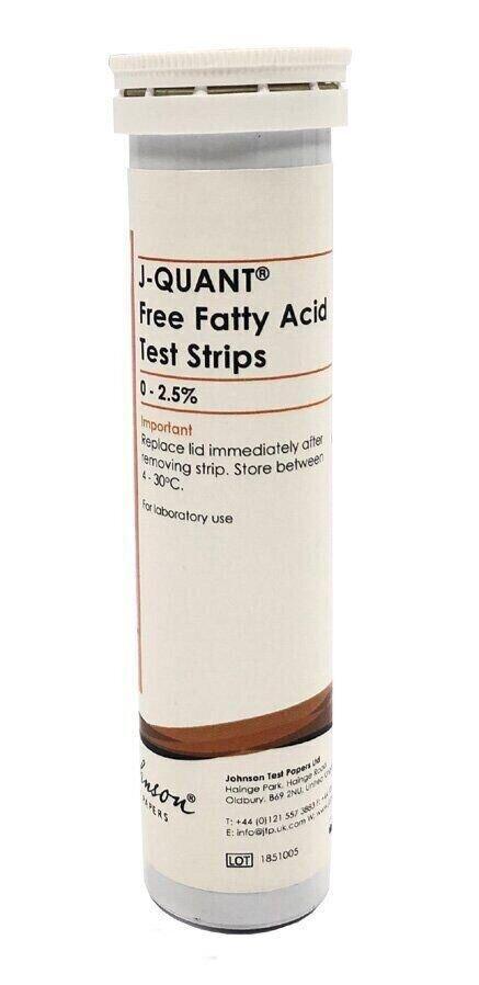 Тестові Смужки на вільні жирні кислоти (для фритюрних жирів) JTP J-QUANT Free Fatty Acids 2.5