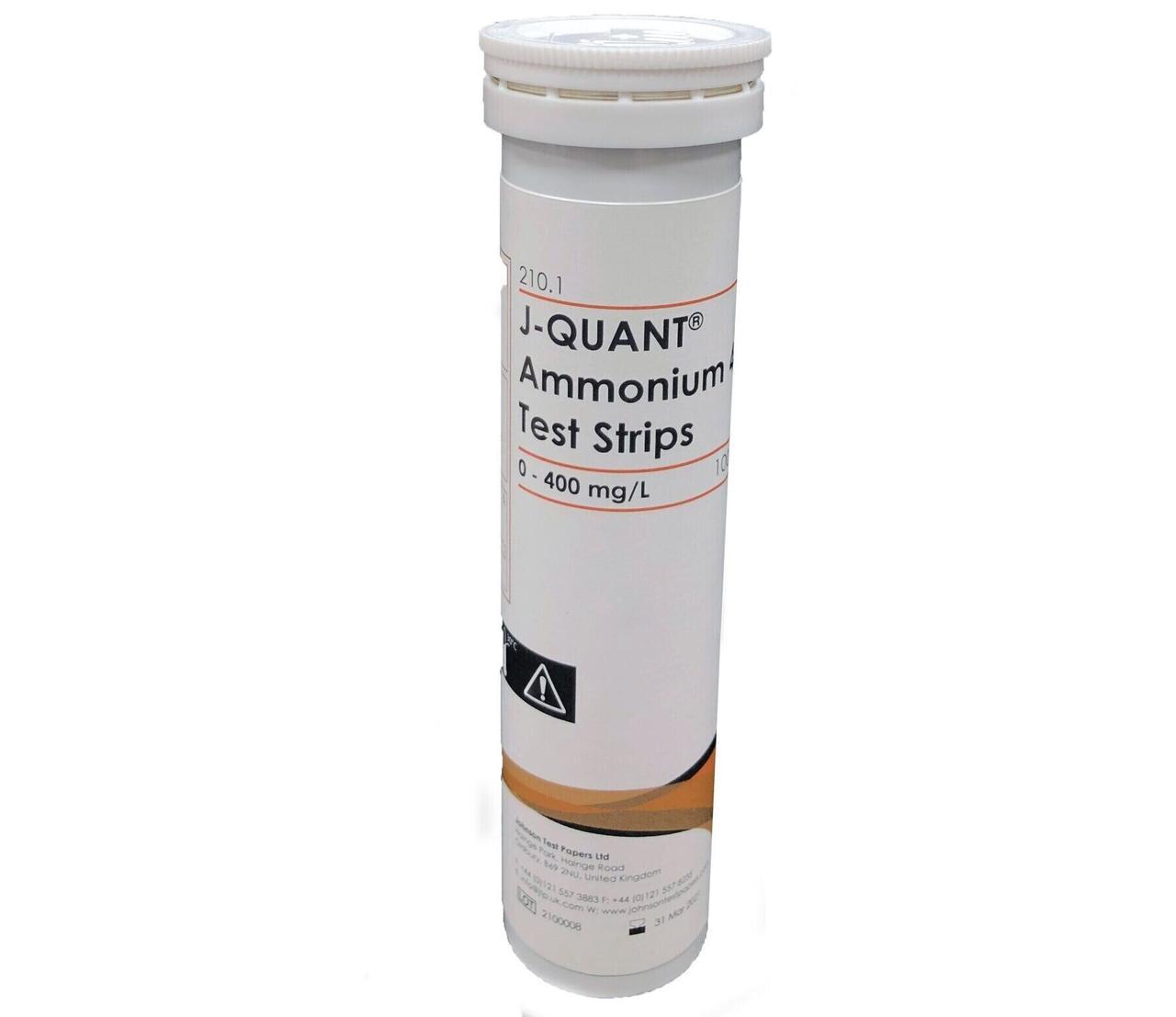 Тестові Смужки на амоній до 400 ppm JTP J-QUANT Ammonium 400 (100 шт)