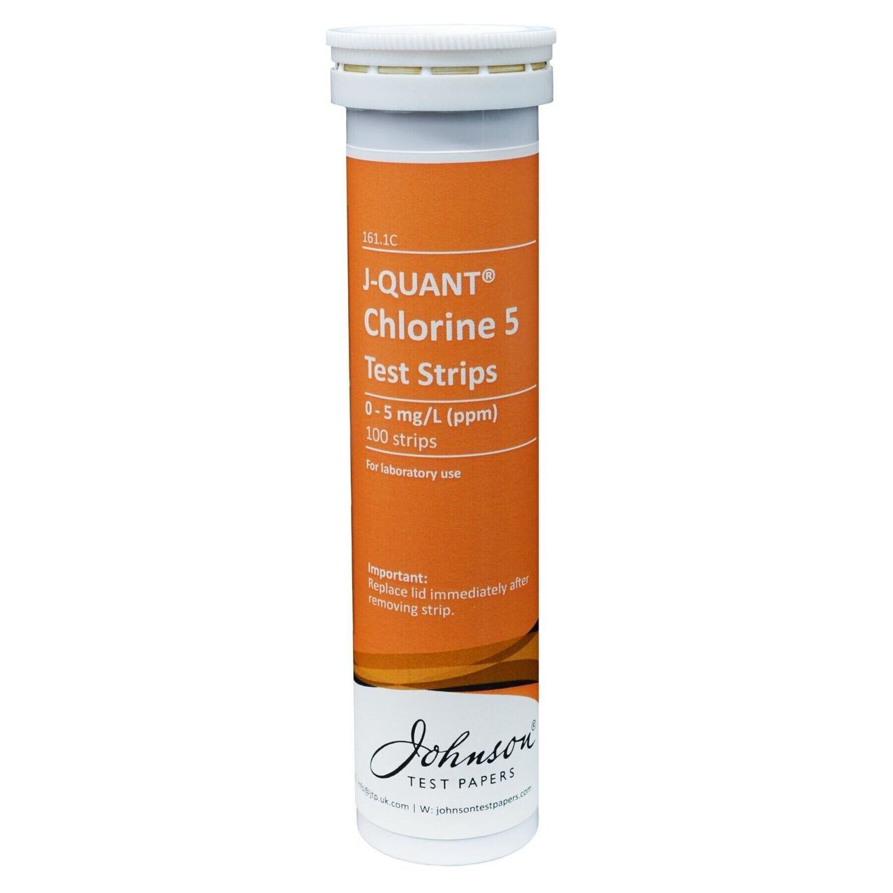 Тестові Смужки на хлор до 5 ppm JTP J-QUANT Chlorine 5 (100 шт)