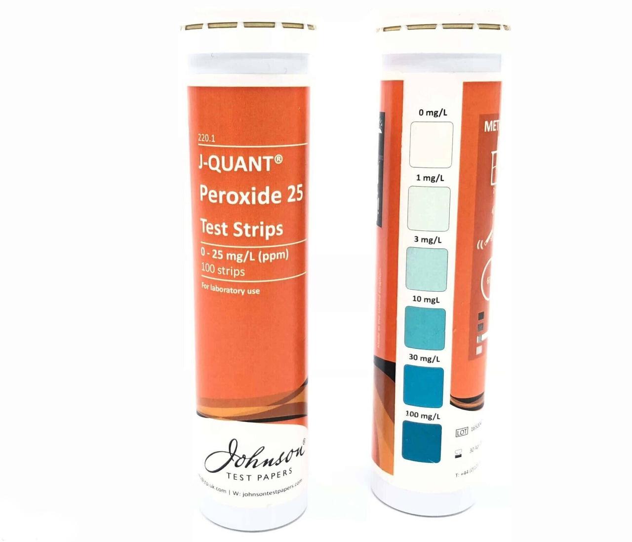 Тестові Смужки на пероксид до 25 ppm JTP J-QUANT Peroxide 25 (100 шт)