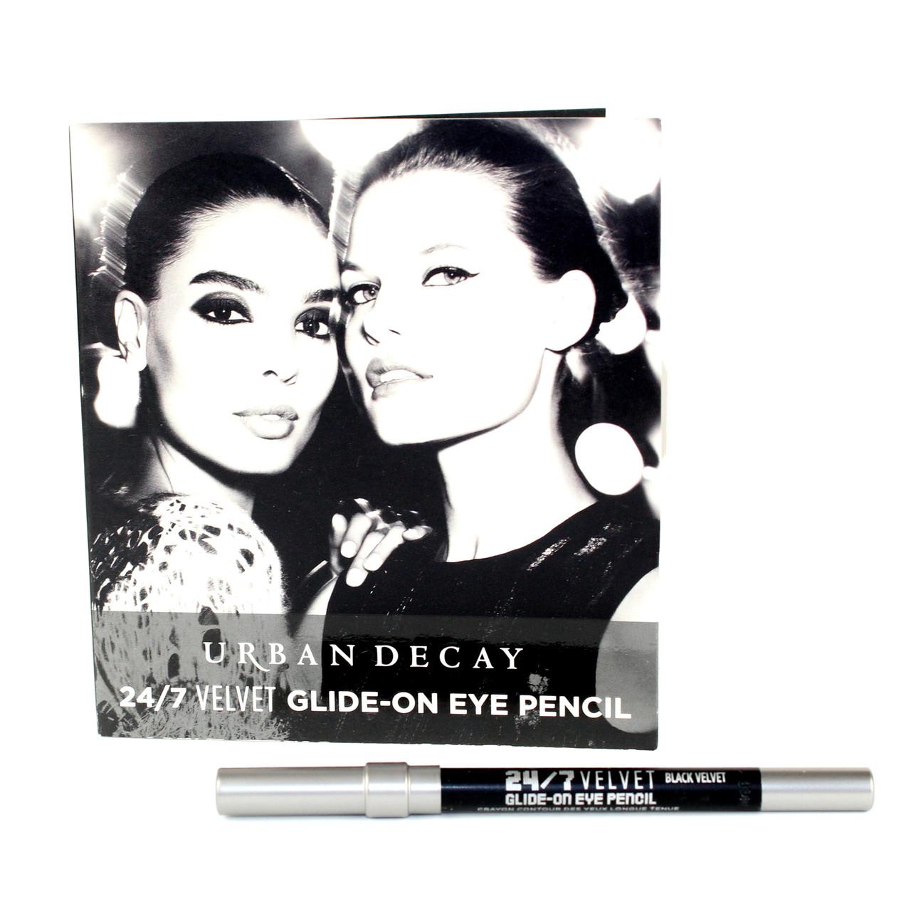 Карандаш для глаз водостойкий матовый черный Urban Decay 24/7 VELVET Glide-On Eye Pencil тестер