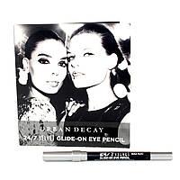 Карандаш для глаз водостойкий матовый черный Urban Decay 24/7 VELVET Glide-On Eye Pencil тестер, фото 1