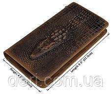 Чоловічий клатч Vintage 14366 шкіра під крокодила Коричневий, Коричневий, фото 3
