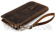 Чоловічий клатч Vintage 14366 шкіра під крокодила Коричневий, Коричневий, фото 2