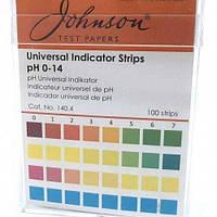 Індикаторні смужки універсальні на pH 0–14 JTP pH Indicator Strips