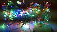 Гирлянда светодиодная LED 100 диодов новогодняя мульти цветная