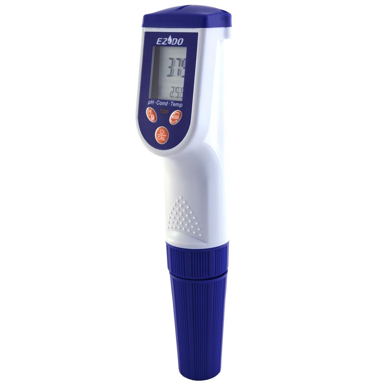 РН-метр/ОВП-метр/Кондуктометр/TDS-метр/Солемір водозахищений з АКТ EZODO 7200