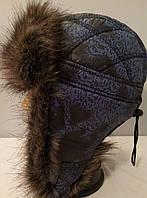 Подростковая шапка ушанка мальчик