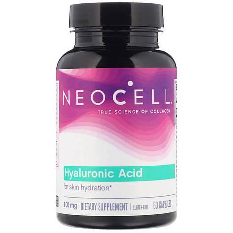 Гиалуроновая кислота, Hyaluronic Acid, 100 мг, Neocell, 60 капсул, фото 2