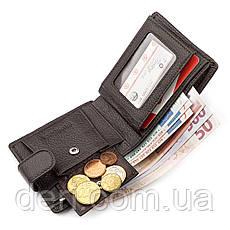 Чоловічий гаманець з натуральної шкіри коричневий ST Leather, фото 3
