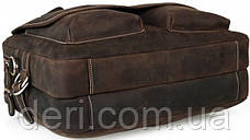 Сумка Vintage 14570 из винтажной кожи Коричневая, Коричневый, фото 2