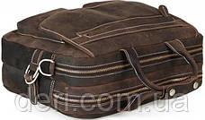 Сумка Vintage 14570 из винтажной кожи Коричневая, Коричневый, фото 3