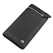 Чоловічий гаманець натуральна шкіра чорний