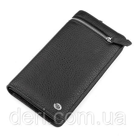 Мужской кошелек натуральная кожа черный, фото 2