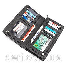 Мужской кошелек натуральная кожа черный, фото 3