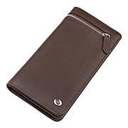 Чоловічий гаманець ST Leather стильний коричневий
