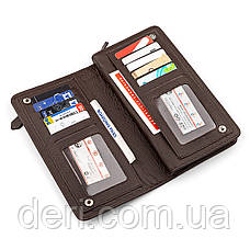 Мужской кошелек ST Leather стильный коричневый, фото 3