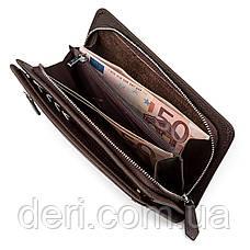 Мужской кошелек ST Leather стильный коричневый, фото 2