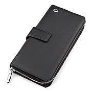 Чоловічий гаманець ST стильний чорний