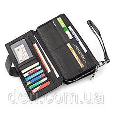 Мужской кошелек ST стильный черный, фото 3