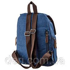 Компактний жіночий текстильний рюкзак Vintage 20197 Синій, фото 2