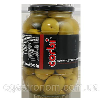 Оливки коктейль Корбі із кісточкою (черв.) Corbi 825g 6шт/ящ (Код : 00-00004284)