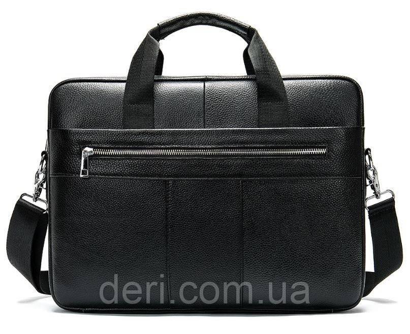 Сумка деловая мужская кожаная Vintage 14794 Черная, Черный