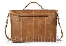 Сумка ділова чоловіча під ноутбук Vintage 14753 Світло-коричневий, Коричневий, фото 2
