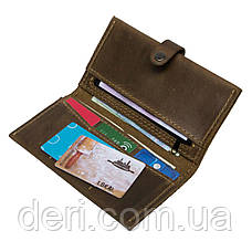 Чоловічий тонкий гаманець з натуральної шкіри коричневий, фото 2
