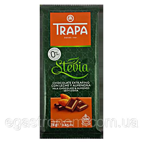 Шоколад без глютену Трапа молочний мигдаль Trapa 75g 20/ящ (Код : 00-00004034)
