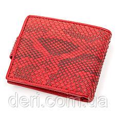 Кошелек SNAKE LEATHER из натуральной кожи питона Красный, Красный, фото 2