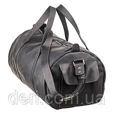 Сумка дорожная Grande Pelle 11046 из винтажной кожи Черная, Черный, фото 2