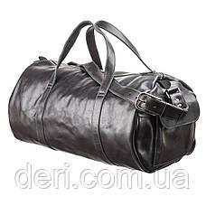 Сумка дорожная Grande Pelle 11048 кожаная Черная, Черный, фото 2
