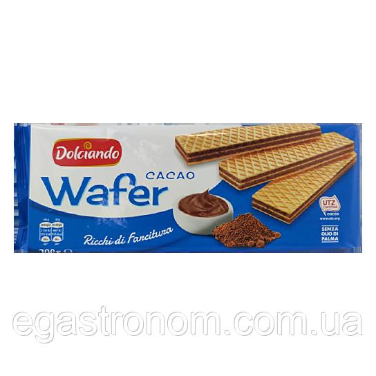 Вафлі Дольчіандо какао Dolciando cacao 300g 18шт/ящ (Код : 00-00004655)