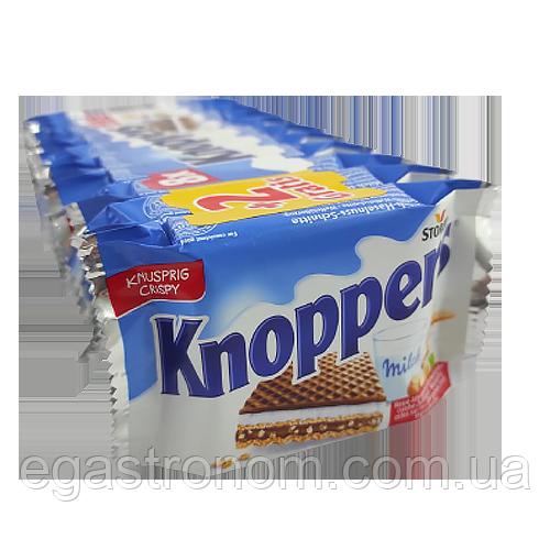 Вафлі Кнопперс з горіховим кремом Knoppers 10*25g 24пач/ящ (Код : 00-00004978)