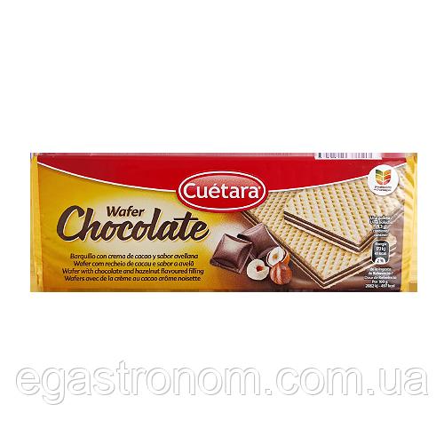 Вафлі Куетара з шоколадом та горіхом Cuetara chocolate 150g 21шт/ящ (Код : 00-00004905)