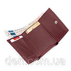 Кошелек ST Leather кожа бордовый, фото 3
