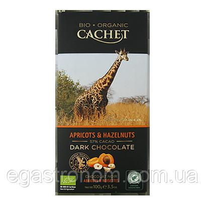 Шоколад Кашет чорний шоколад з абрикосом та лісовим горіхом Cashet Apricots&hazelnuts 100g 12шт/ящ (Код :