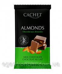 Шоколад Кашет №42 молочний шоколад з мигдалем Cashet almonds 300g 12шт/ящ (Код : 00-00004177)