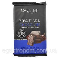 Шоколад Кашет №45 чорний шоколад Cashet dark 70% 300g 12шт/ящ (Код : 00-00004165)