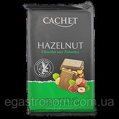 Шоколад Кашет №48 молочний шоколад з горіхами Cashet hazelnyt 300g 12шт/ящ (Код : 00-00004141)