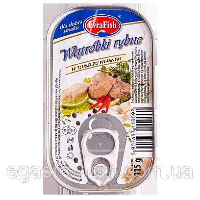 Печінка Єврофіш тріски Evra Fish 115g 24шт/ящ (Код : 00-00000749)