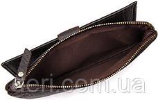 Гаманець з кнопкової застібкою коричневий, фото 2