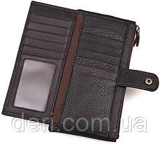 Гаманець з кнопкової застібкою коричневий, фото 3