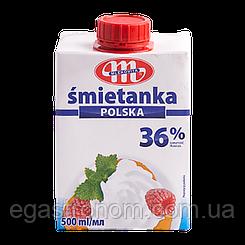 Вершки Млековіта 36% Mlekovita 500ml 6шт/ящ (Код : 00-00000187)