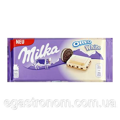 Шоколад Мілка біла орео Milka oreo white 100g 22шт/ящ (Код : 00-00005282)