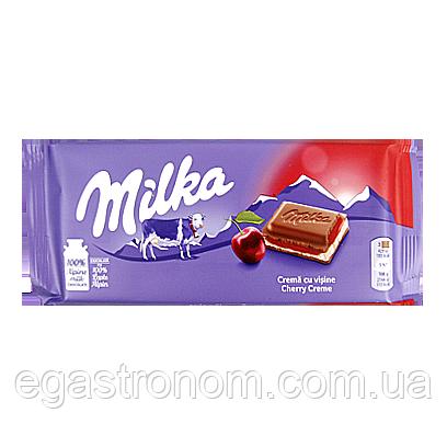 Шоколад Мілка вишневий крем Milka cherry creme 100g 22шт/ящ (Код : 00-00005280)