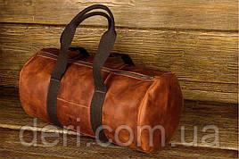 Сумка дорожная винтажная кожа Grande Pelle 11159 Рыжая, Рыжий