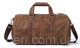 Сумка дорожная мужская кожаная Vintage 14893 Коричневая, Коричневый
