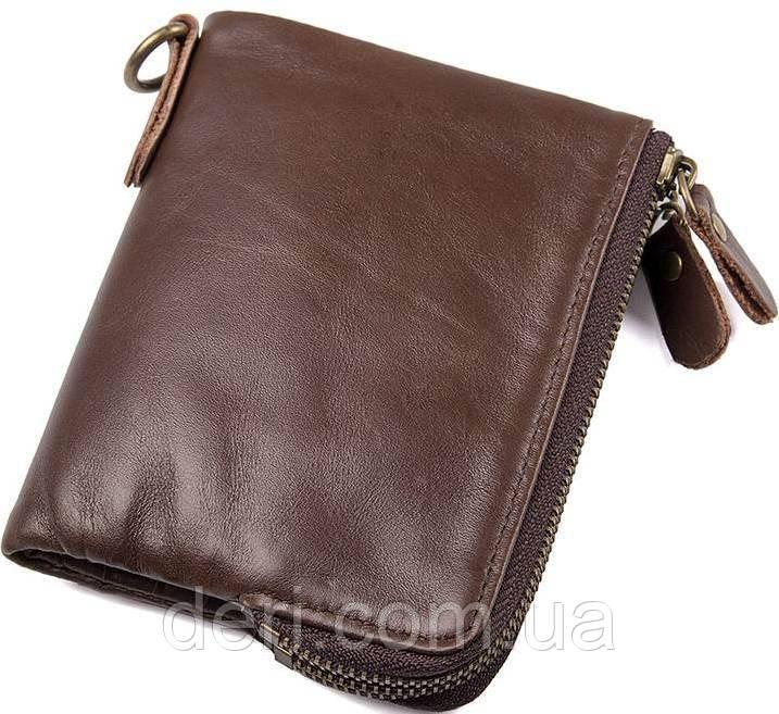 Портмоне мужской вместительный и практичный коричневый